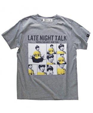 ニューヨークTシャツ:LATE NIGHT TALK グレー<img class='new_mark_img2' src='https://img.shop-pro.jp/img/new/icons15.gif' style='border:none;display:inline;margin:0px;padding:0px;width:auto;' />