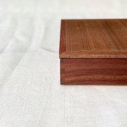 白木塗内黒ウォルナット重箱|松屋漆器店