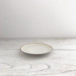 灰釉鎬銘々皿|黒木泰等