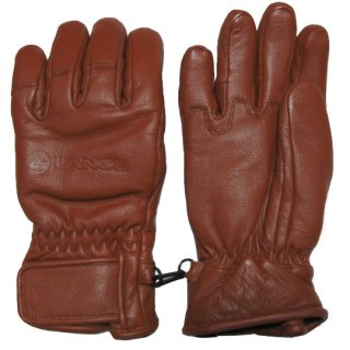 LEATHER 5 FINGER BRN