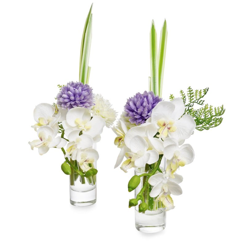 オーキッド&マム ウォーター供花 ラベンダー