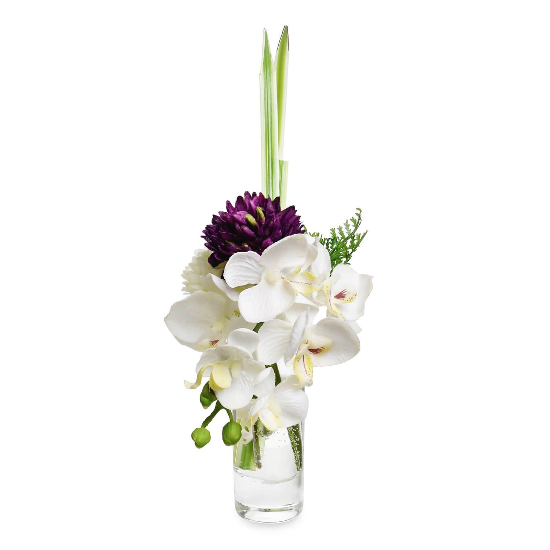 オーキッド&マム ウォーター供花 パープル