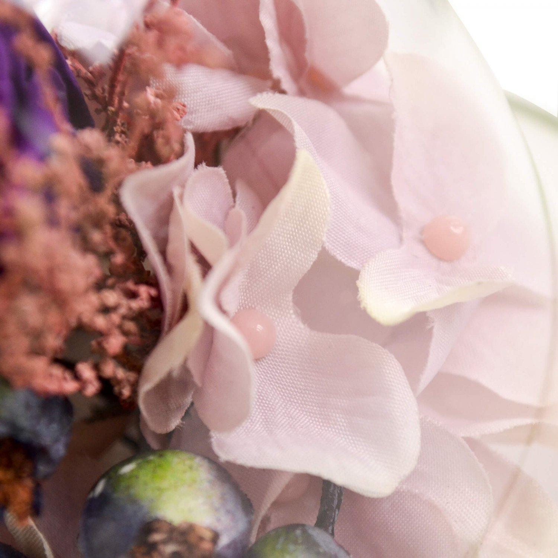 プリザーブドフラワー バラ ドームアレンジ パープル