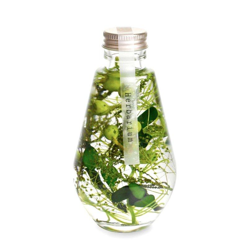ハーバリウム ドロップ型 ナチュラルグリーン