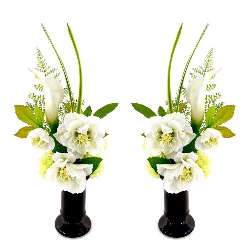 八重リシアンサス クリスマスローズ 供花