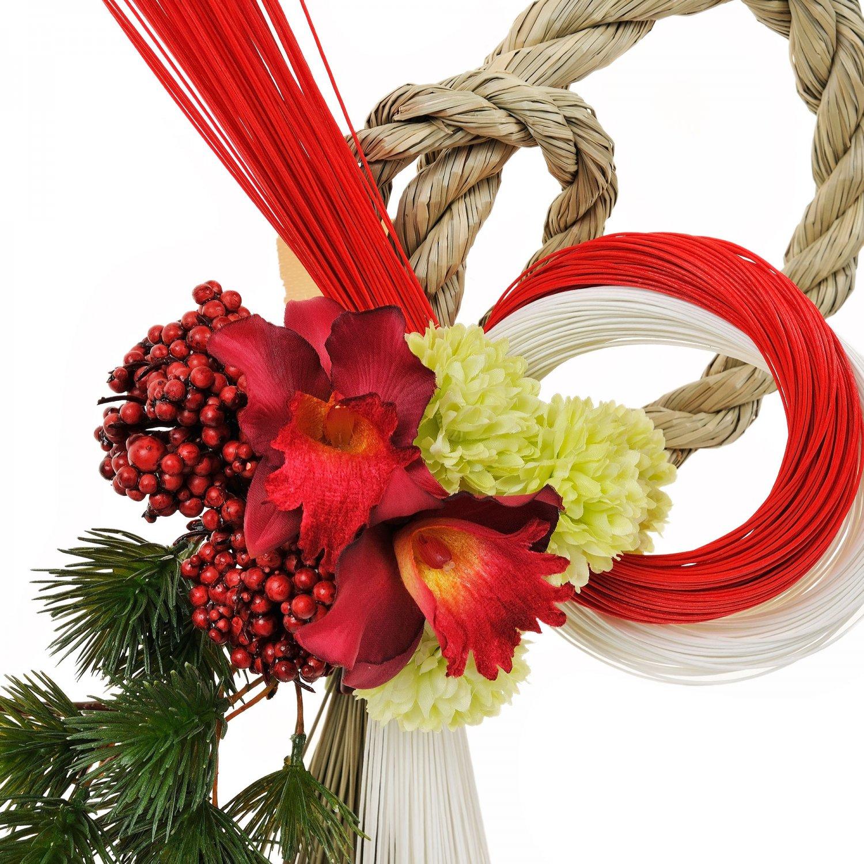 五葉松とカトレア迎春のお飾り(S) アーティフィシャルフラワー アートフラワー