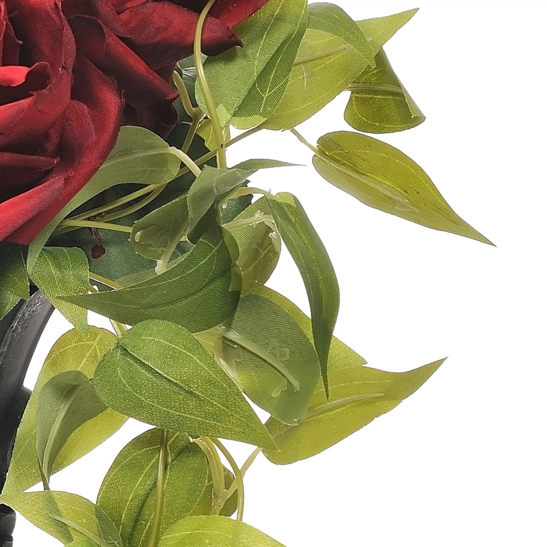 ローズコレクション レッド 黒ベース アーティフィシャルフラワー アートフラワー