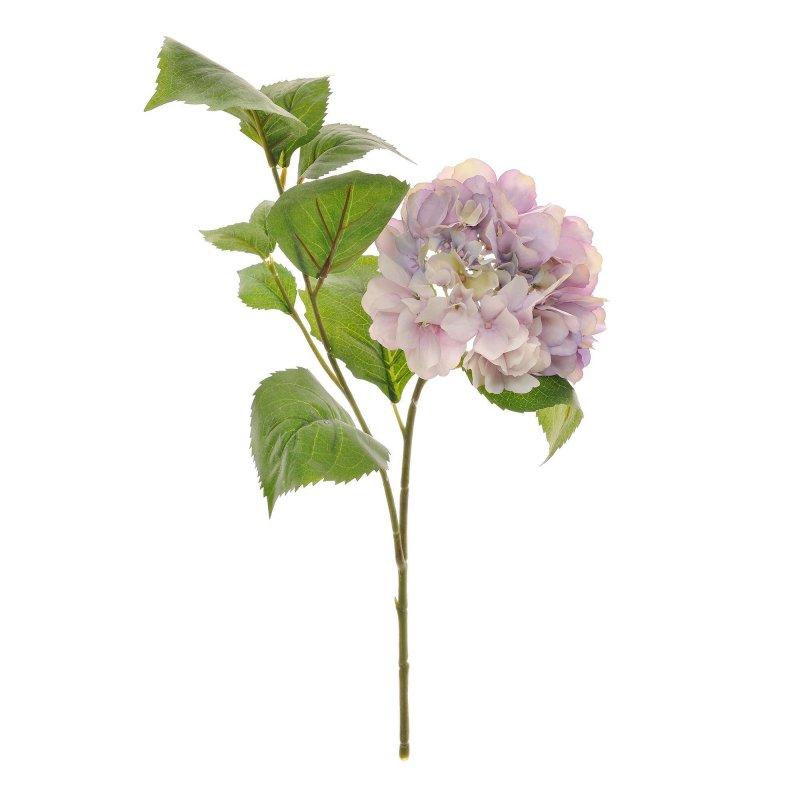 あじさい ライトラベンダー 葉付き 単品花材 H50 アーティフィシャルフラワー アートフラワー