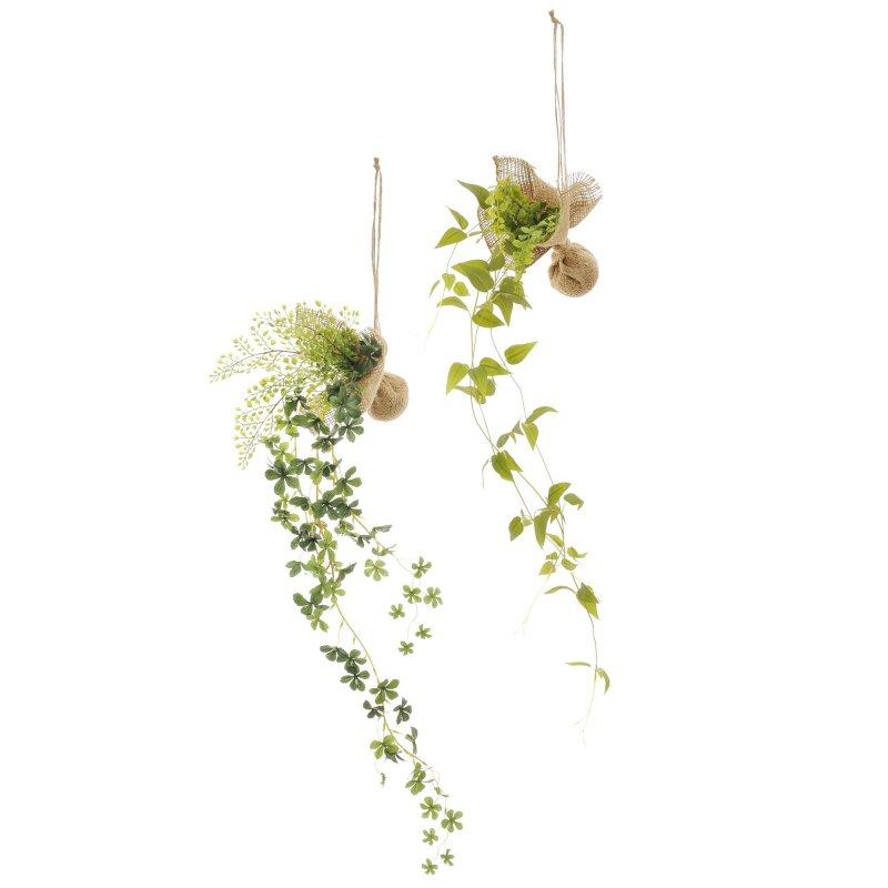 リキュウソウ・シュガーバイン 消臭ハンギンググリーン(2個セット) フェイクグリーン