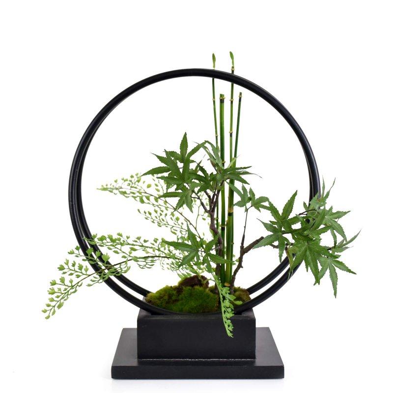 モミジ 寄せ植え盆栽 リングベースS CUPBON 盆栽 フェイクグリーン