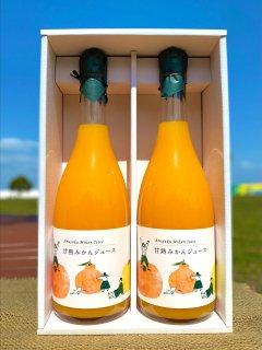 甘熟みかんストレートジュース(銀ラベル)720ml×2本(送料込)※北海道と沖縄+500円