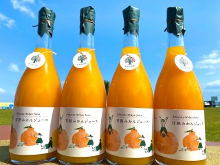 甘熟みかんストレートジュース(金ラベル)720ml×4本(送料込)※北海道と沖縄+500円