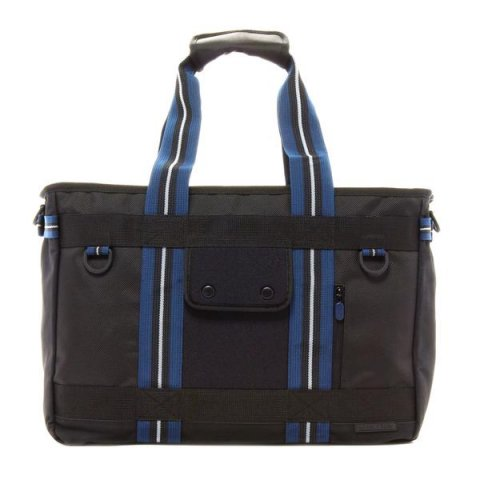Shanghai Tote - Black(Navy Trim)