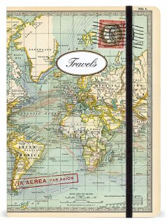 Cavallini ラージノートブック【ワールドマップ�】