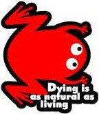 コトワザステッカー / 死ぬ事は生きる事と同様に自然の理である