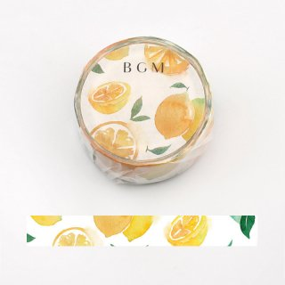 夏限定・BGM マスキングテープ「サマーレモン」