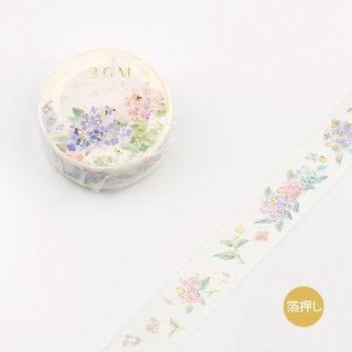 夏限定・BGM マスキングテープ「アジサイ」