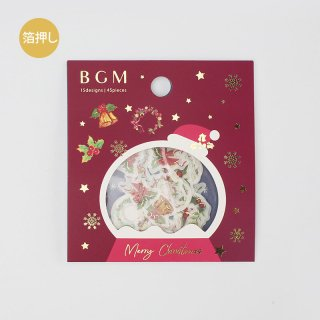 BGM  W箔押しフレークシール  【 クリスマス飾り 】