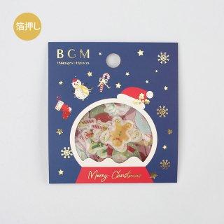 BGM  W箔押しフレークシール  【 クリスマスアイコン 】