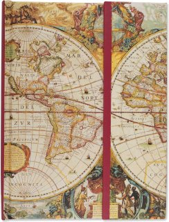 PETER PAUPER PRESS ジャーナルブック【 旧世界の地図 】