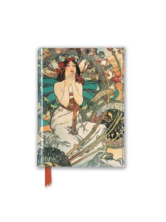 【 ポケットサイズ 】<br>海外輸入アートノート 【 ミュシャ  『モナコ・モンテカルロ』 】