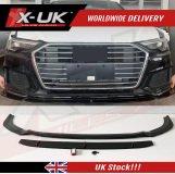 Audi A6 C8 4K Carbon fibre look front splitter / lip