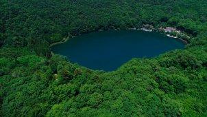 四尾連湖(しびれこ)全景スライド