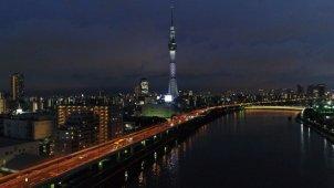 東京スカイツリーと隅田川 夜景