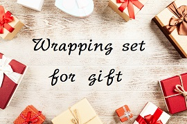 wrapping set for gift