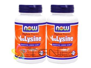 L-リジン1000mg 2ボトル(100錠×2)(USA/NowFoods/e-pelicanMailplus)