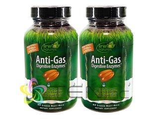 アンチガス・ダイジェスティブエンザイム 2ボトル(45SoftGels x 2) (IrwinNaturals/アメリカ製/国際ヤマト)