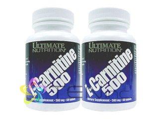 L-カルニチン500mg2ボトル(60tabs×2)(Ultimate社USA製/e-pelicanMailplus)