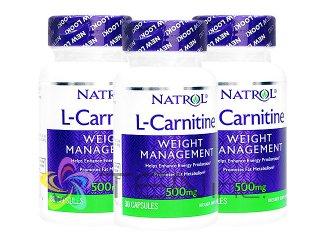 L-カルニチン500mg 3ボトル (30caps x 3) (Natrol社アメリカ製/国際書留)