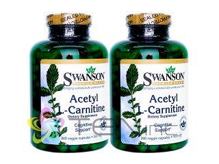 アセチルL-カルニチン(AcetylL-Carnitine)500mg 2ボトル(240BeziCaps×2)(Swanson/アメリカ製/国際ヤマト)