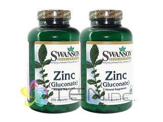 ジンク(ZincGluconate)50mg 2ボトル(250capsx2)(Swanson社/アメリカ製/国際ヤマト)