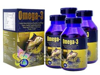 オメガ3フィッシュオイル(Omega3)2000mg 4ボトル(100caps×4)(アメリカ製/国際ヤマト)