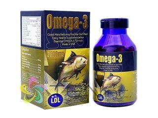 オメガ3フィッシュオイル(Omega3)2000mg 1ボトル100カプセル(アメリカ製/国際書留)