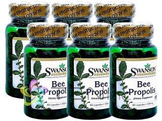 プロポリス(BeePropolis)550mg 6ボトル(60caps×6)(Swanson/アメリカ製/国際ヤマト)