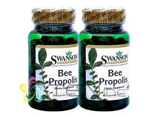 プロポリス(BeePropolis)550mg 2ボトル(60caps×2)(Swanson/アメリカ製/国際書留)
