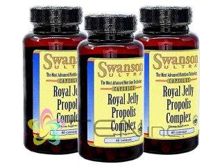 ウルトラローヤルゼリープロポリスコンプレックス 3ボトル(60caps×3)(Swanson/アメリカ製/国際ヤマト)