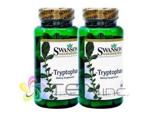 L-トリプトファン(L-Tryptophan)500mg 2ボトル(60caps×2)(Swanson/アメリカ製/国際書留)