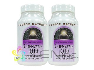 CoQ10-100mg2ボトル(90softgel×2)(SourceNaturals社アメリカ製/e-pelicanMailplus )