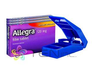アレグラ120mg 3箱(20tabs×3)+ピルカッター1個(アメリカ製/国際書留)