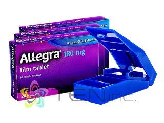 アレグラ180mg 3箱(20tabs×3)+ピルカッター1個(アメリカ製/国際書留)