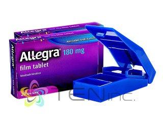 アレグラ180mg 2箱(20tabs×2)+ピルカッター1個(アメリカ製/国際書留)