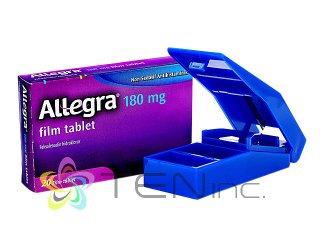 アレグラ180mg 1箱20錠+ピルカッター1個(アメリカ製/国際書留)