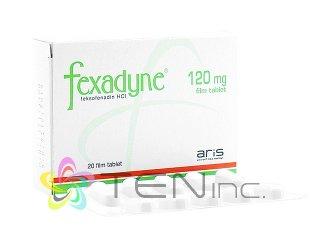 アレグラジェネリック(Fexadyne)120mg 1箱20錠(トルコ製/国際書留)