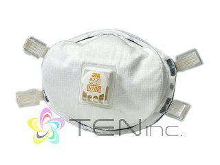3M-8233 N100防毒マスク 2個(USA/e-pelicanMailplus)