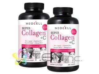 ビタミンC配合スーパーコラーゲン 2ボトル(360tabs×2)(USA/e-pelicanMailplus)