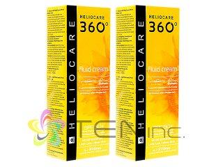 ヘリオケア360°フルイドクリーム(Heliocare360FluidCream)SPF50+ 2ボトル(50ml×2)(スペイン製/国際書留)